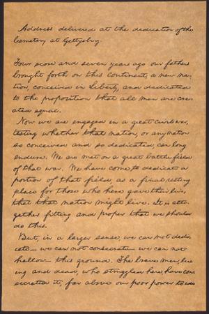 Gettysburg Address by Abraham Lincoln