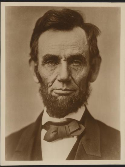 Abraham Lincoln in the Classic Portrait by Alexander Gardner of November 15, 1863--Art Print