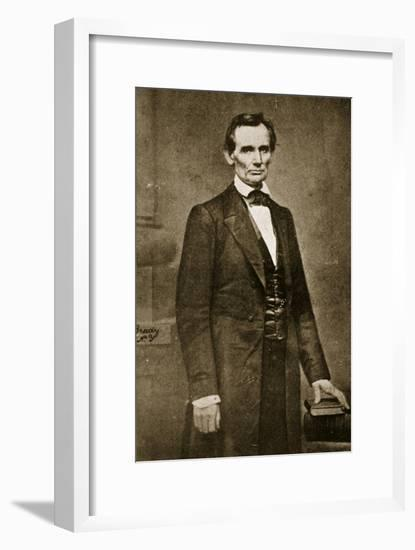 Abraham Lincoln, May 1860-Mathew Brady-Framed Giclee Print