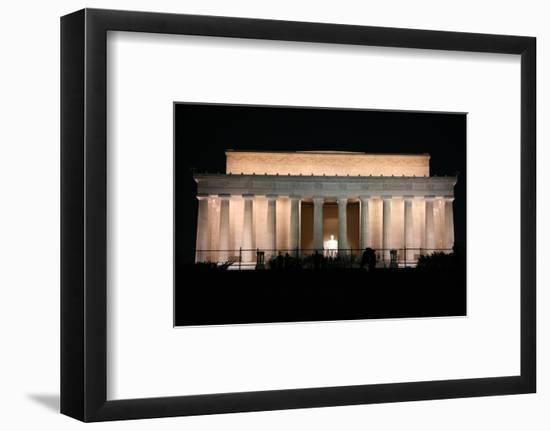 Abraham Lincoln Monument at Night, Washington DC-Zigi-Framed Photographic Print