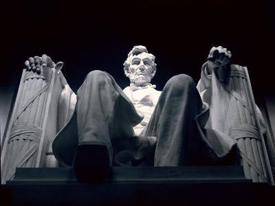 Abraham Lincoln Statue Inside the Lincoln Memorial-Rex Stucky-Photographic Print