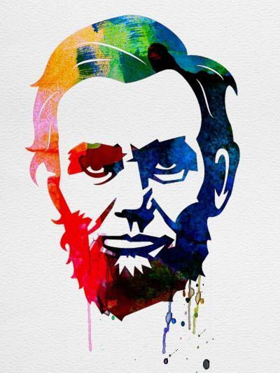 Abraham Lincoln Watercolor-Lora Feldman-Art Print