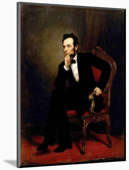 Abraham Lincoln-George P^A^ Healy-Mounted Premium Giclee Print
