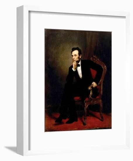 Abraham Lincoln-George P^A^ Healy-Framed Giclee Print