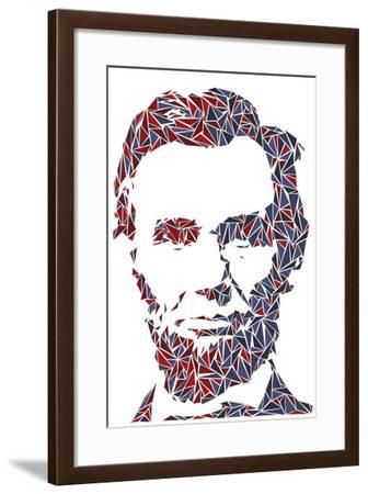 Abraham Lincoln-Cristian Mielu-Framed Art Print