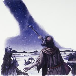 Abraham Looks Up at Starry Sky