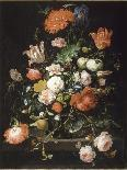 Still Life of Flowers in a Glass Vase-Abraham Mignon-Giclee Print