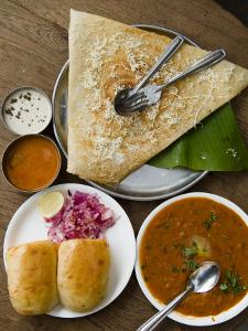 Cheese Masala Dosa with Pav Bhaji by Abraham Nowitz
