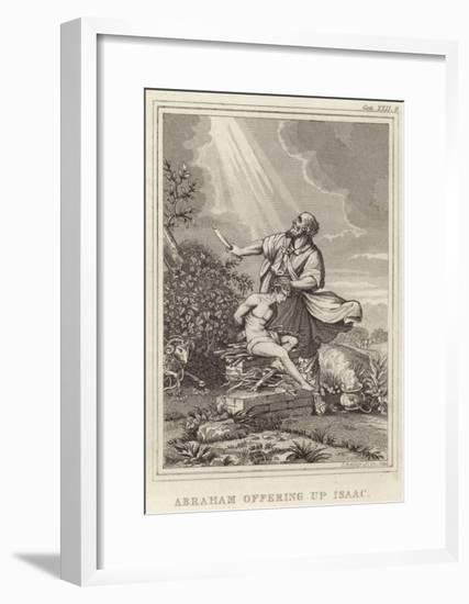 Abraham Offering Up Isaac--Framed Giclee Print