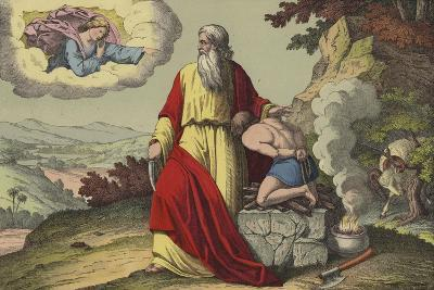 Abraham Offering Up Isaac--Giclee Print