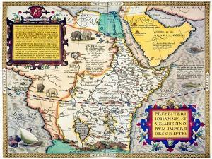 African Map, 1595 by Abraham Ortelius