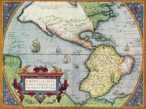 America, or the New World: From the 'Theatrum Orbis Terrarum' by Abraham Ortelius, 1570', 1570 by Abraham Ortelius