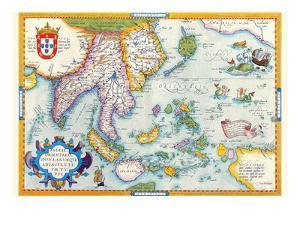 East Indies by Ortelius by Abraham Ortelius