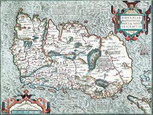 Ireland. Hiberniae Brittanicae Insulae Nova Descriptio 1592 by Abraham Ortelius