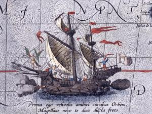 Magellan'S Ship, Victoria by Abraham Ortelius