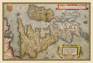 Map of Britian and Ireland by Abraham Ortelius