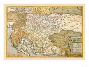 Map of Eastern Europe by Abraham Ortelius