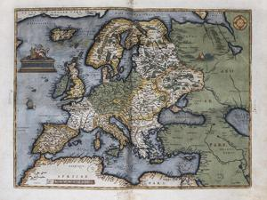 Map of Europe by Abraham Ortelius