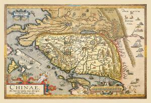 Map of Far East China by Abraham Ortelius