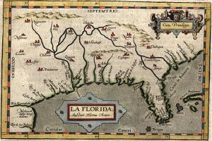 Map of Florida, C.1584 by Abraham Ortelius