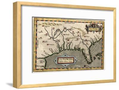 Map of Florida, C.1584