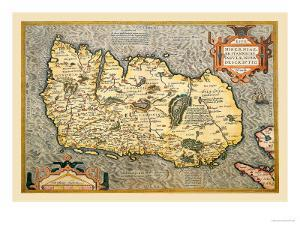 Map of Ireland by Abraham Ortelius