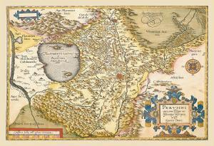 Map of Italy near Florence by Abraham Ortelius