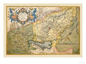 Map of Northeastern Italy, Verona by Abraham Ortelius