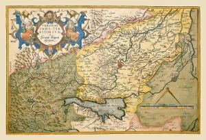 Map of Northeastern Italy, Verona by Abraham Ortelius