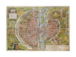 Map of Paris by Abraham Ortelius
