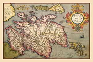 Map of Scotland by Abraham Ortelius