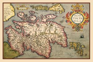 Map of Scotland by Abraham Ortelius