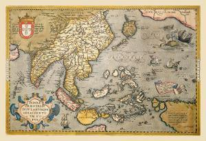 Map of South East Asia by Abraham Ortelius