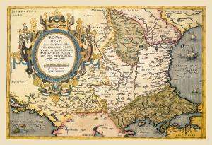 Map of the Balkans by Abraham Ortelius