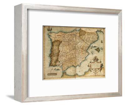 Map of the Iberian Peninsula. Theatrum Orbis Terrarum