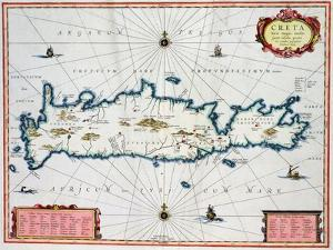 Map Showing the Island of Crete, C.1570 by Abraham Ortelius