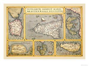 Maps of Italian Islands by Abraham Ortelius