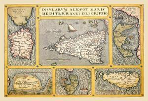Maps of Italian Islands by Abraham Ortelius