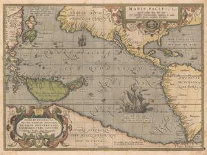 Maris Pacifici (From Theatrum Orbis Terraru), 1595 by Abraham Ortelius