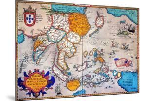 Pacific Ocean/Asia, 1595 by Abraham Ortelius