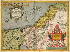 Palestine and the Promised Land, from the 'Theatrum Orbis Terrarum', 1603 by Abraham Ortelius