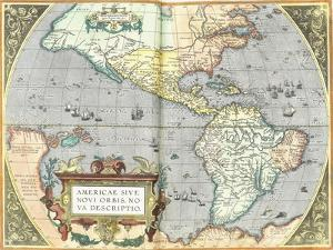 The Americas, 1592 by Abraham Ortelius