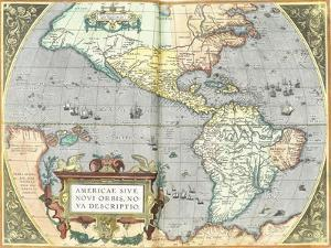 The Americas, 1592 by Abraham Ortelius