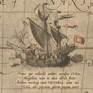 The Victoria, a Spanish Carrack, Ship of Ferdinand Magellan?S Armada De Molucca by Abraham Ortelius