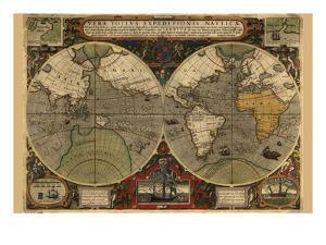 Vera Totius Expeditionis Nautica (World Map) by Abraham Ortelius