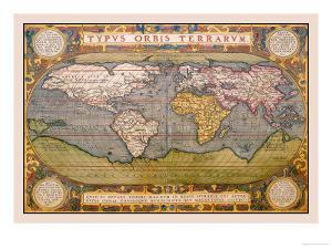 World Map by Abraham Ortelius