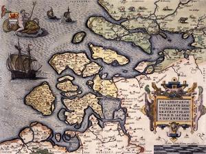Zelandicavm Insvlarvm Exactissima Et Nova Descriptio by Abraham Ortelius