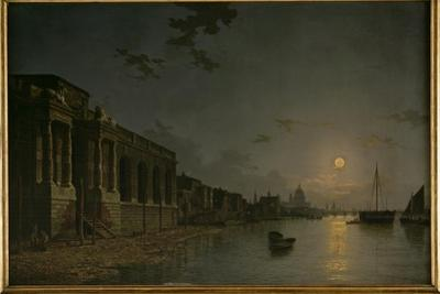 A View of the Thames by Abraham Pether