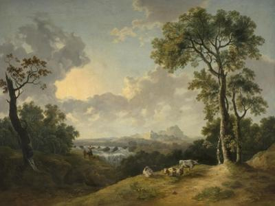 Landscape with a Waterfall, 1783 by Abraham Pether