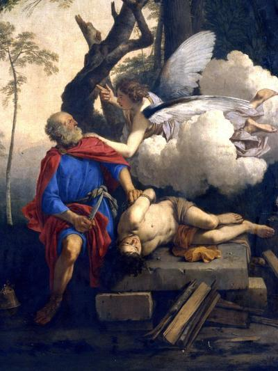 Abraham's Sacrifice, 17th Century-Laurent de La Hyre-Giclee Print